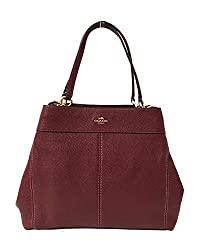 Coach F57545 Lexy Pebble Leather Shoulder Bag Im Wine