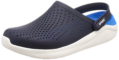 Crocs Men's and Women's LiteRide Clog, Casual Athletic Shoe with Extraordinary Comfort Technology, Navy/White, 8 US Women / 6 US Men