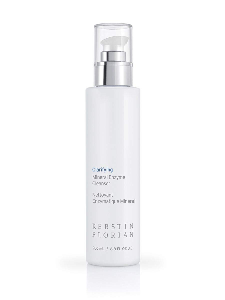 Kerstin Florian Clarifying Mineral Enzyme Cleanser, Facial Wash Detoxifies and Balances with Organic Kelp and Fruit Enzymes 200ml/6.8 fl oz