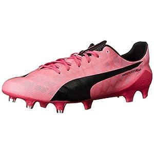 PUMA Men's Evospeed SL Firm Ground Soccer Shoe, Fandango Pink/Black, 7 M US
