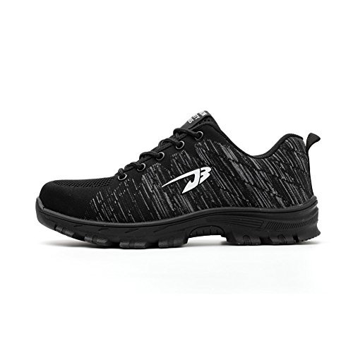Avec Chaussures Homme Embout Et Travail Semelle Happygo Chaussure Protection Acier De En Baskets Noir1 Sécurité Femme xwgBx04qX