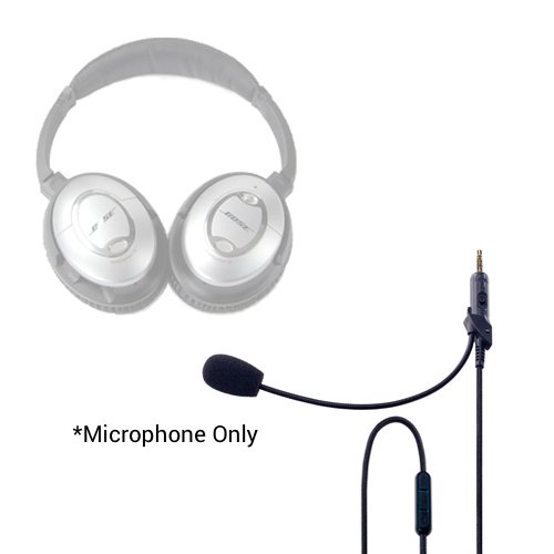 (Headset Buddy ClearMic for Bose QC15-3.5mm Male to 3.5mm Male Noise-Cancelling Boom Microphone Inline Remote Adapter Cable for QuietComfort 15 Headphones (CM1502))