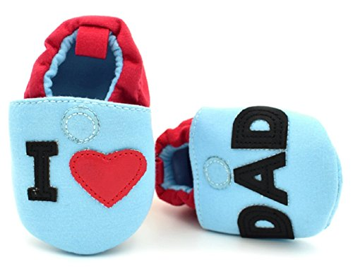 S6–Babyschuhe Neugeborene I Love dad- Ti Amo Papa TG.13(8–12Monate)