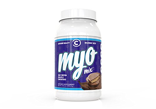 Myomix Whey Protein Powder Blend: Isolate & Concentrate | Workout & Bodybuilding Muscle Gainer | Delicious Meal Replacement | Chocolate Peanut Butter 2lbs For Sale