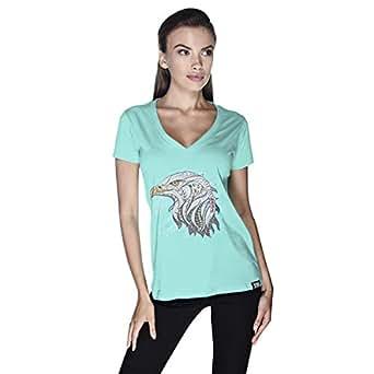 Creo Eagle Animal T-Shirt For Women - L, Green