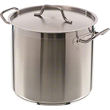 Update International (SPS-16) 16 Qt Induction Ready Stainless Steel Stock Pot w/Cover