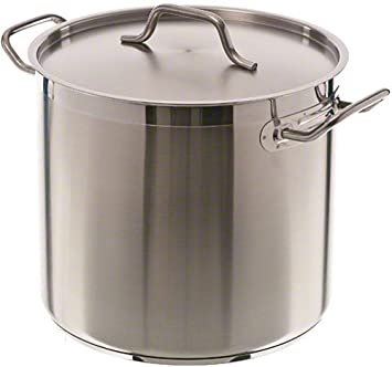 16 Qt Stainless Steel Stock Pot w Cover