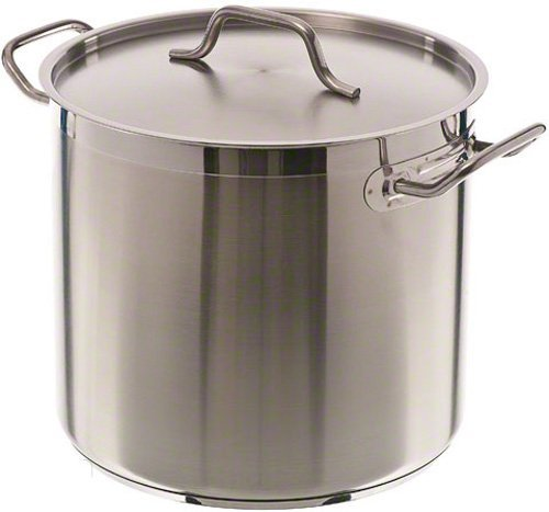 16 Qt Stainless Steel Stock Pot w/Cover
