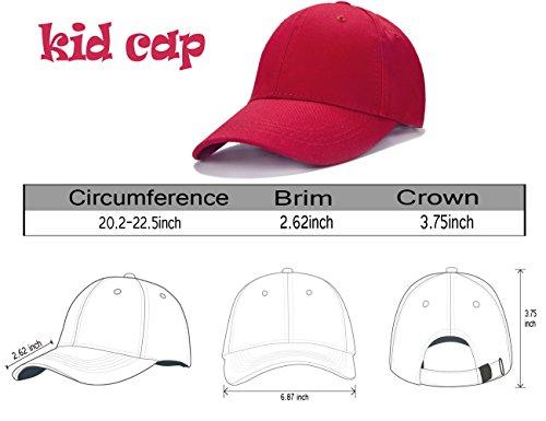 129d023d2c8 Edoneery Unisex Toddler Kids Plain Cotton Adjustable Low Profile Baseball  Cap Hat(A1009) Beige