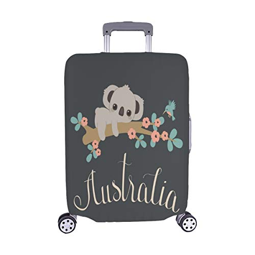Baby Koala Laying On Floral Tree Spandex Trolley Case Travel Luggage Protector Suitcase Cover 28.5 X 20.5 Inch