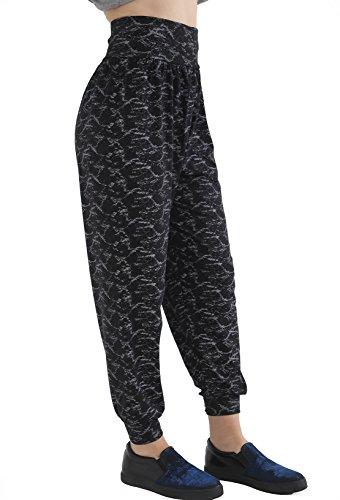GW CLASSYOUTFIT® - Pantalón - para mujer BLACK TIE & DYE
