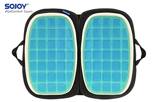 "Sojoy iGelComfort 3 in 1 Foldable Gel Seat Cushion Featured with Memory Foam (A Must-Have Travel Cushion! Smart, Easy Travel Cushion) (Size: 18.5"" x 15'' x 2'') by Sojoy (Image #3)"