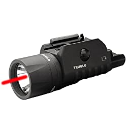 TRUGLO TG7650R Tru-Point Red Laser/Light Combo, Black