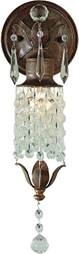Bellacor Crystal Sconce (Feiss WB1216BRB Maison De Ville Crystal Wall Sconce Lighting, Bronze, 1-Light (5