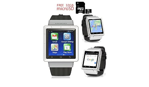 Indigi® Android 4.4 SmartWatch 3 G + WiFi Google Play Store ...