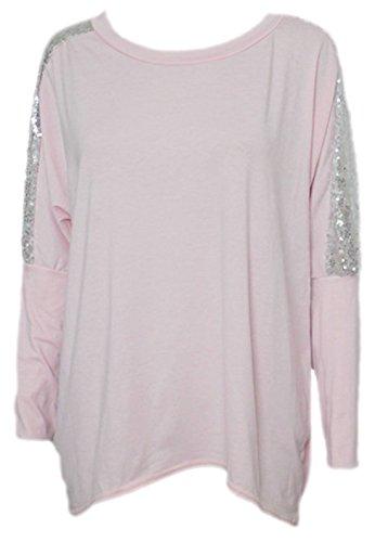 erdbeerloft - Camiseta de manga larga - Básico - Opaco - para mujer rosa 38