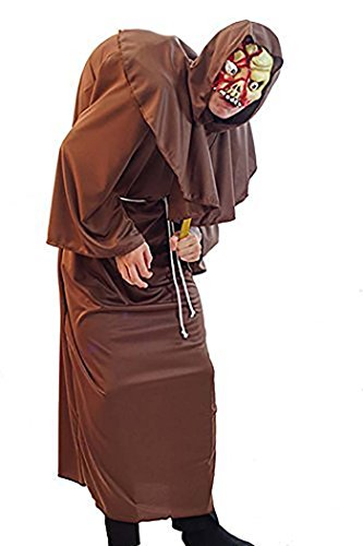 Halloween-Medieval-LARP-Stage-Panto ZOMBIE HUNCHBACK MONK Men's Fancy Dress Costume - From Sizes Small-4XL (SMALL)]()
