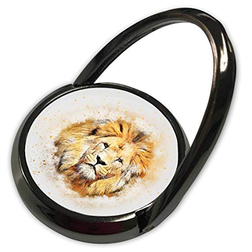 3dRose Lens Art by Florene - Watercolor Art - Image of Portrait Painting of Majestic Lion - Phone Ring (phr_300361_1)