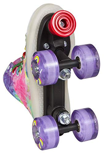 Playlife Funky Tie-Dye LED Light Up Quad Skates (EU 37 / US 6)
