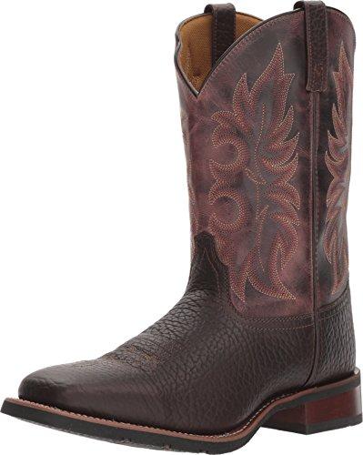 - Laredo Men's Durant Cowboy Boot Square Toe Dark Brown 11 D