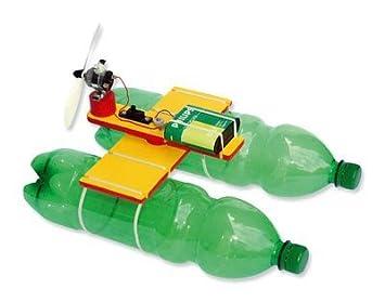 Matches21 Flaschenboot Boot Bausatz Für Pet Flaschen Kinder Werkset