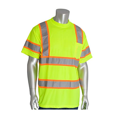 Protective Industrial Products Medium Hi-Viz Yellow/Hi-Viz Orange 1 Polyester/Birdseye Mesh Two-Tone Shirt - Pack of 25 by PROTECTIVE INDUSTRIAL PRODUCTS (Image #1)