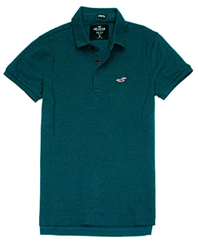Hollister Men's Flex Pique Stretch Polo Shirt HOM-3 (Large, 0439-302) from Hollister Co..