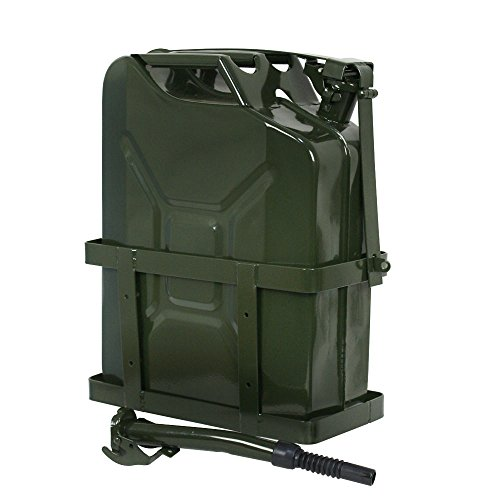 Clever Market Automotive Gas Tank Metal Jerry Can Fuel Steel Tank Holder Military Green NATO Army Solid Gasoline Tank 5 Gallon 20L
