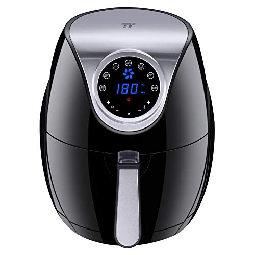 TaoTronics Air Fryer, 4.2 QT, 7 Cooking Presets, LED Touch Screen Kitchen Cooker, Air Oven With Detachable Basket & Cookbook, Nonstick Coatings, Dishwasher Safe