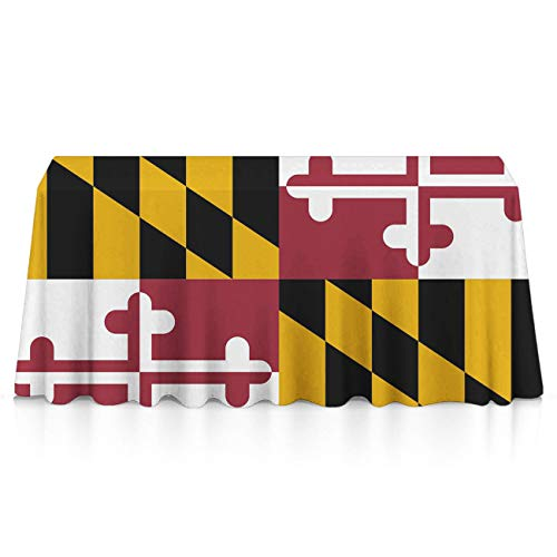 NiYoung Table Cloth, Spillproof Wrinkle Free Table Cloth, Rectangular Cool Maryland Flag Table Toppers for Family Dinners, Parties, Restaurant, Dinner Parties, Picnic (Best Restaurants In Buffalo 2019)