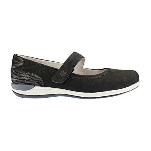 ROMIKA - Martha 10 - Damen Spangenballerinas - Schwarz Schuhe in Übergrößen