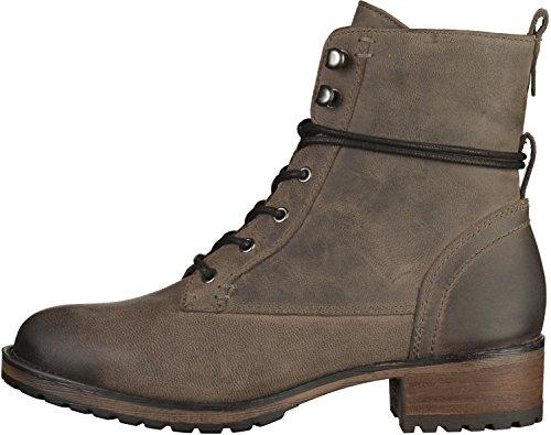 SPM 18004628 Iyam Lace Boot botas para mujer de cuero Grau