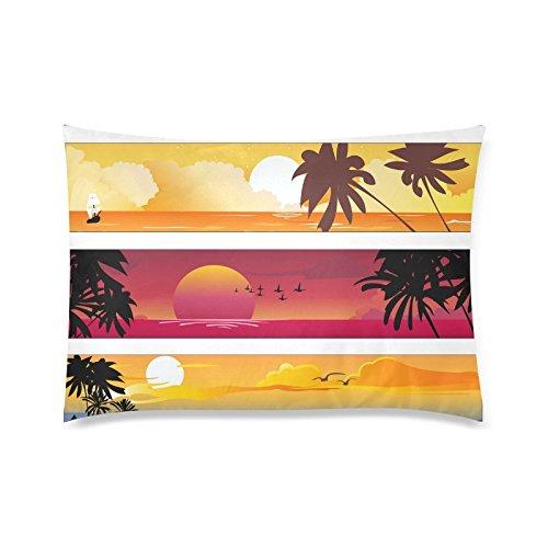 GUNCHU Custom Tropical Summer Beach Sunset Decorative Throw Pillow Case Cushion Cover 20