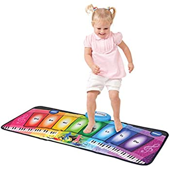 WOLFBUSH Kids Piano Play Mat 8 Key Steop On Keyboard Floor Mat Toy for Baby Toddlers, Dance and Record