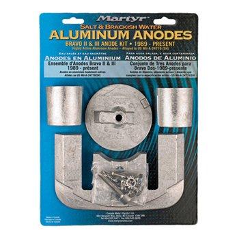 - Martyr CMBRAVO23KITA Aluminum Alloy Merc Bravo 2&3 Mercury Anode Kit Aluminum