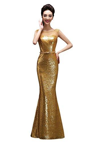 Damen Schlauch Gold Drasawee Kleid Drasawee Damen nOEz7Wxg