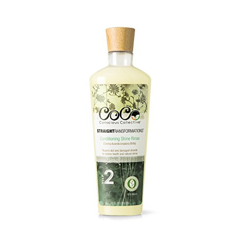 CoCo | Conscious Collective Straight Transformations Conditioning Rinse, Certified 100% Natural for Ultra Shine Repair, 12 oz