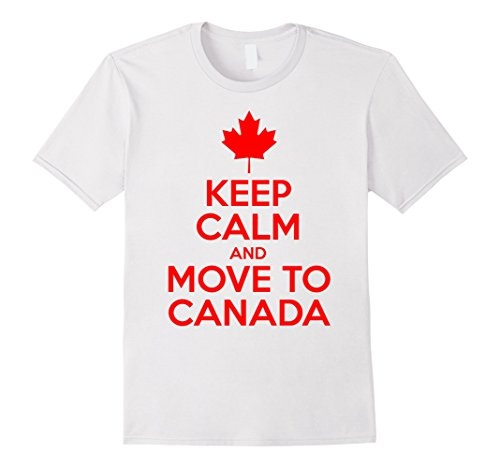 [Men's Keep Calm and move to Canada Medium White] (Father And Daughter Halloween Costume Ideas)