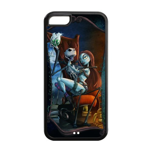 Creative Case for iPhone 5C,Cover for iPhone 5C,iPhone 5C case,Hard Case for iPhone 5c,The Nightmare Before Christmas Design TPU Screen Protector Hard Case for Apple iPhone 5c