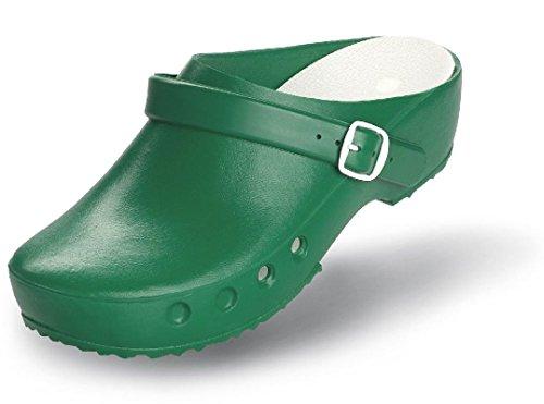 Neu SCHÜRR Arbeitsschuhe OP-Schuhe Arztschuhe Clocs grün mit Fersenriemen OHNE Stahlkappe (41)