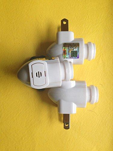 Photo Sensitive - Automatic Night Light Base - Set of Three (3) (Photo Night Light)