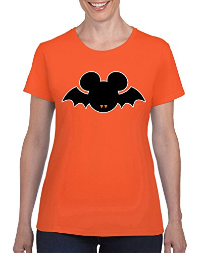 T-Shirts for Women Halloween Costumes Mickey Mouse Bat Disney T-shirt for Women Round Neck Tee (Funny Disney Halloween Costumes)