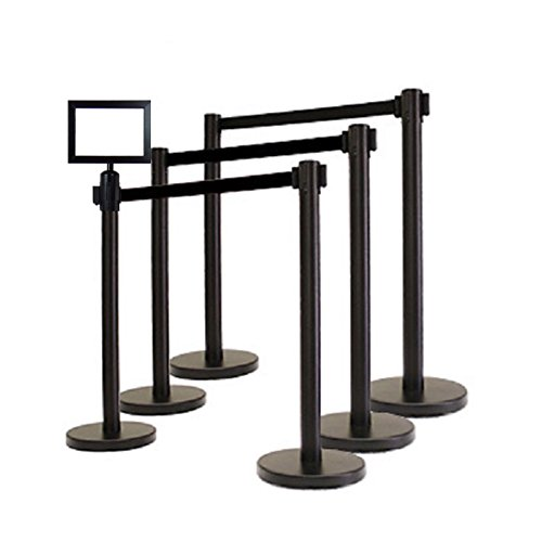 Retractable Stanchion, 6 Posts + Signfra - Retractable Belt Crowd Control Shopping Results