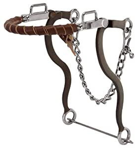 Weaver Leather Hackamore with Brown Latigo Leather Wrapped Noseband, Brown