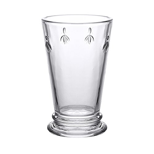 Bee Highball - Melleo Highball Glasses Set of 6 Clear 10.5-ounce Bee Glasses Juice Water Drinking Double Old Fashioned