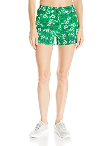 Shorts Classic Football (Soffe Women's Jr Printed Short Cctn, Scribble Soccer, Small)