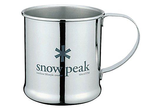 Snow Peak Men's Stainless Steel Mug, Silver, One Size ()