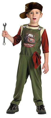 Kids-Costume Tow Mater Mechanic Std 4 To 6 Halloween Costume - Child 4-6 (Tow Mater Halloween Costume)