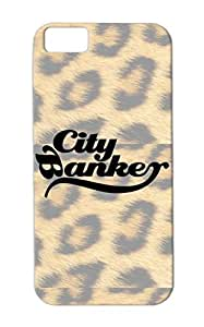TPU Cool Funny Satire Black Case For Iphone 5c CITY BANKER