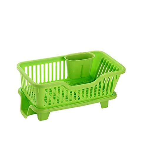 Battletter Kitchen Bowl Dish Draining Rack (Green)